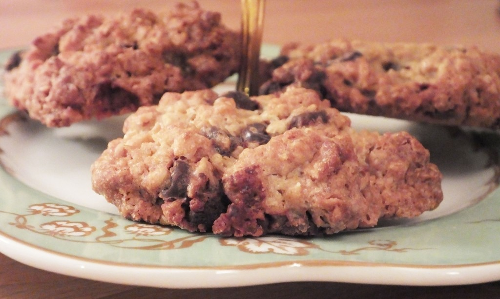 Chocolate chip and oat cookies - Pikalily food blog