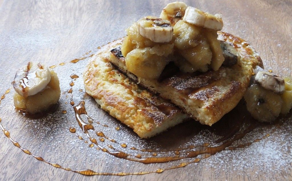 Caramelised banana waffle breakfast recipe - Pikalily food blog