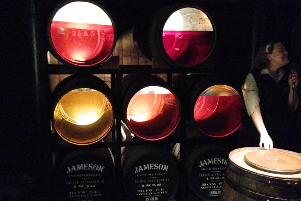 Jameson distillery tour barrels - pikalily blog