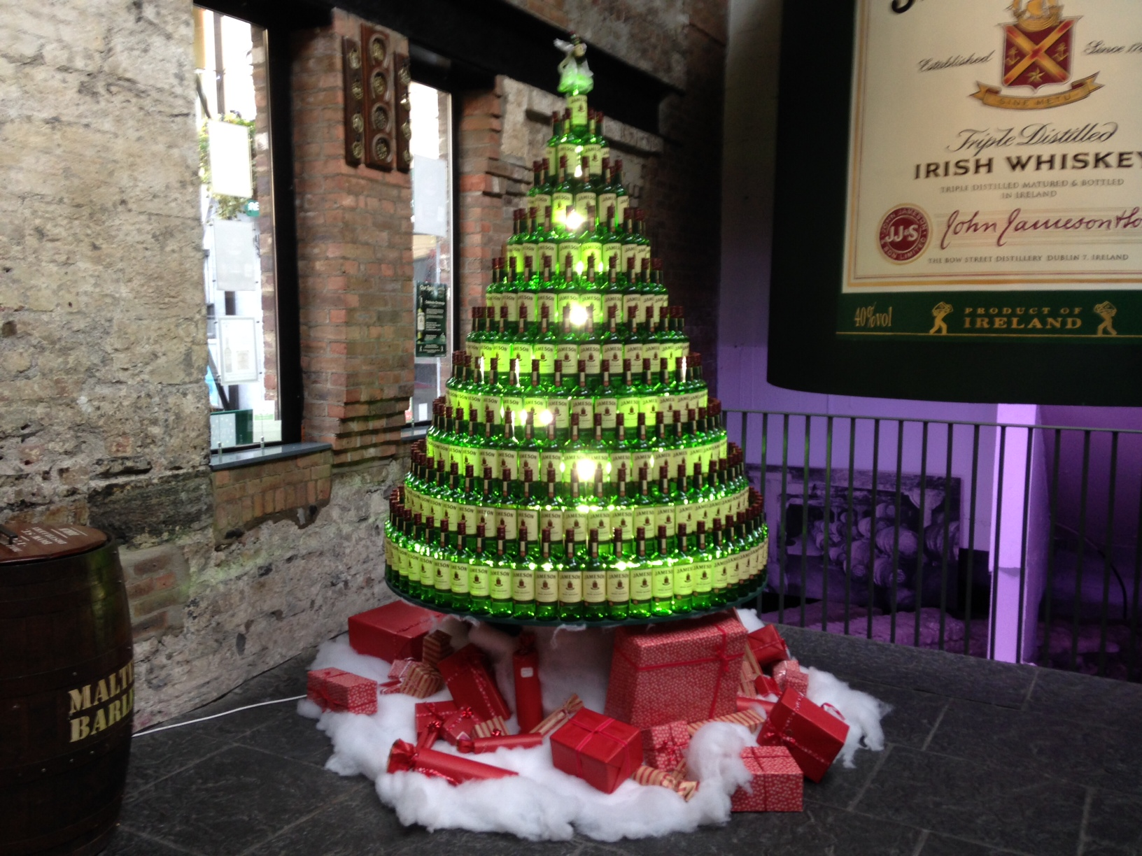Jameson distillery tour Christmas Dublin