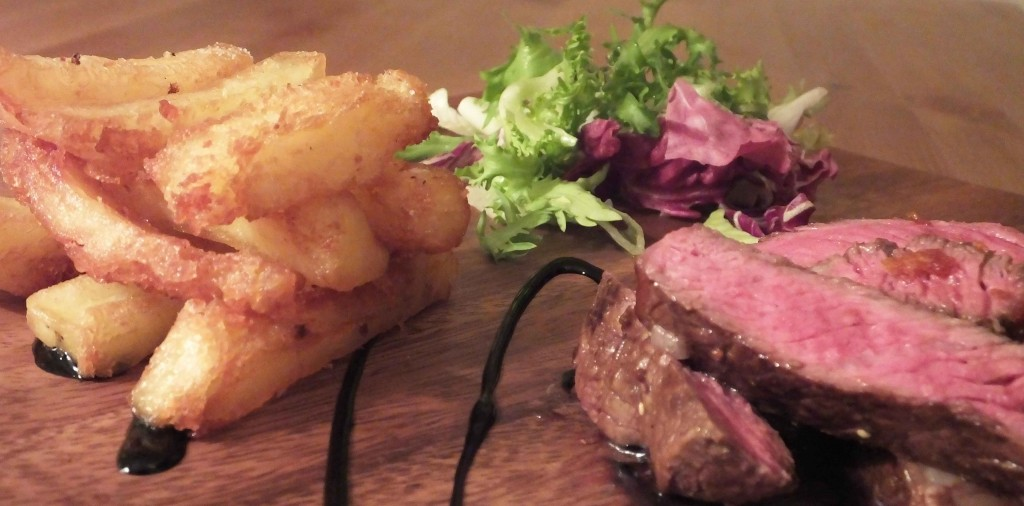 Marinated ribeye steak triple cooked chips - Pikalily food blog