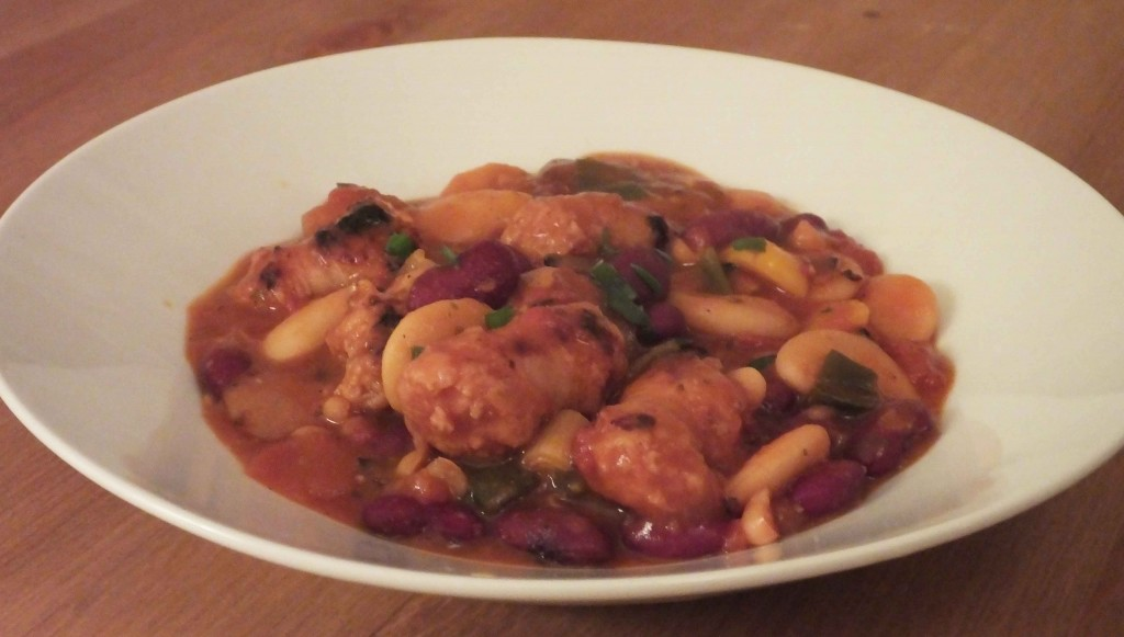 Sausage bean casserole - Pikalily food blog