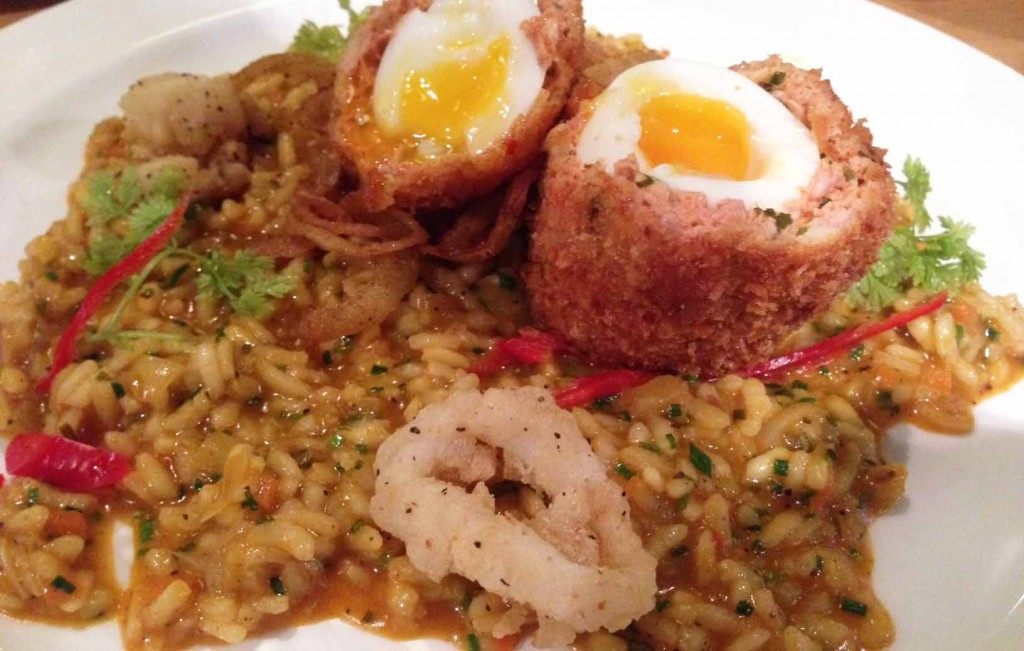 Chorizo duck scotch egg - Pikalily food blog