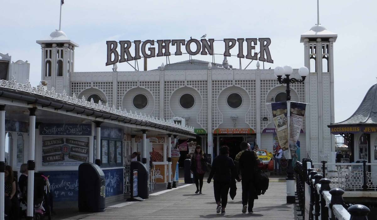 Out at Brighton Pier - Pikalily Food Travel Blog