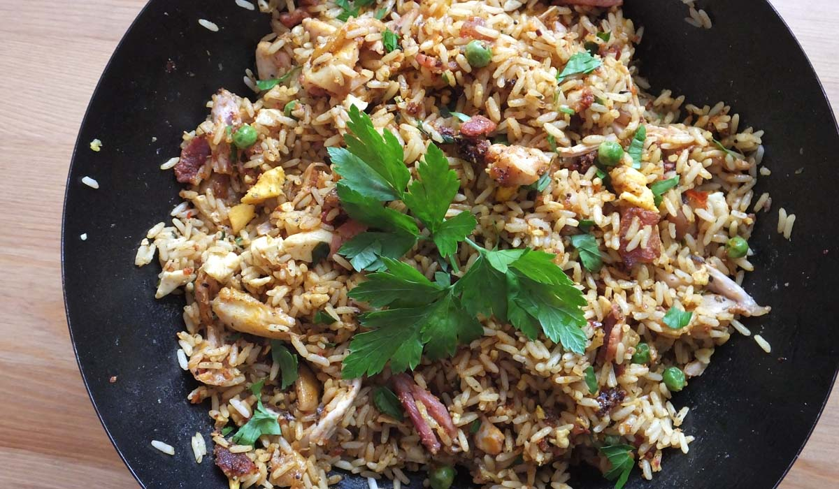 Chicken Curry Fried Rice Recipe - Pikalily Food Blog