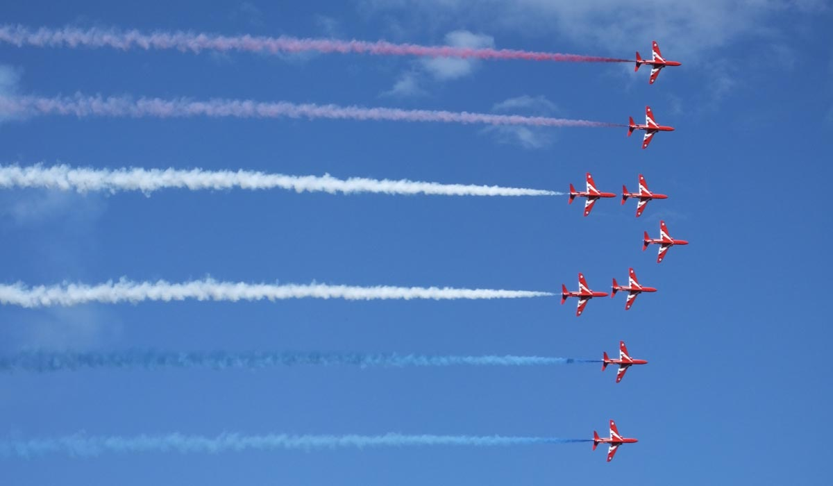 Red Arrows Air Display - Festival Flight