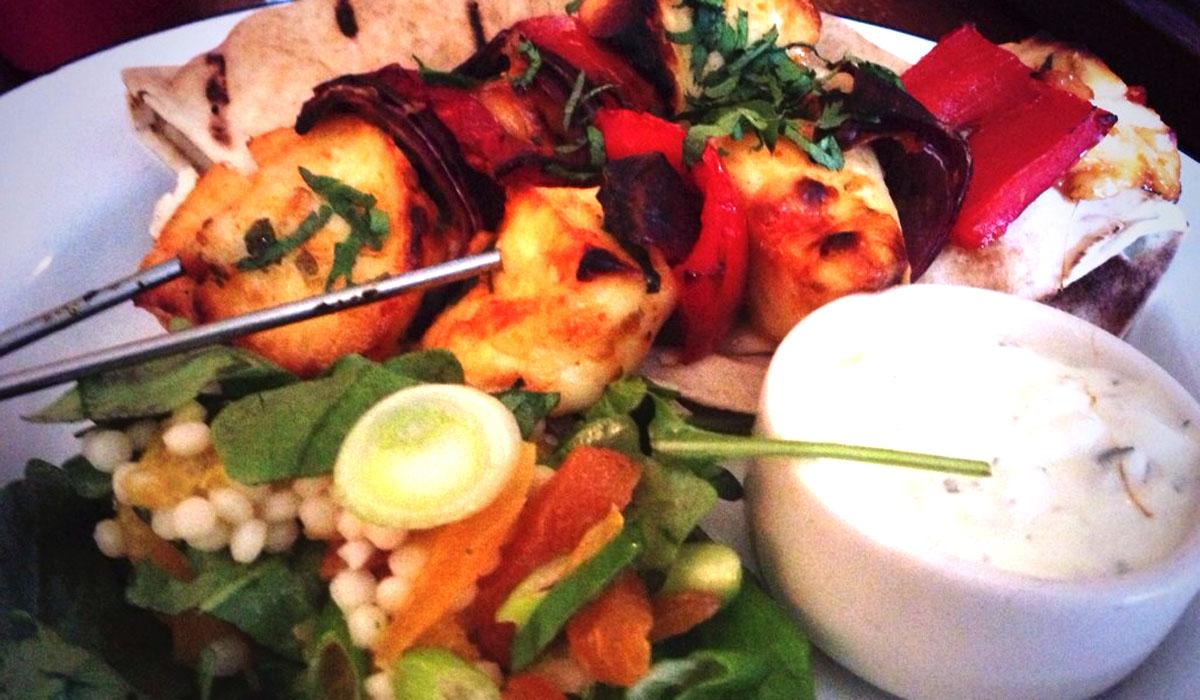 Halloumi Kebab Gorilla Manchester - Pikalily Food Blog