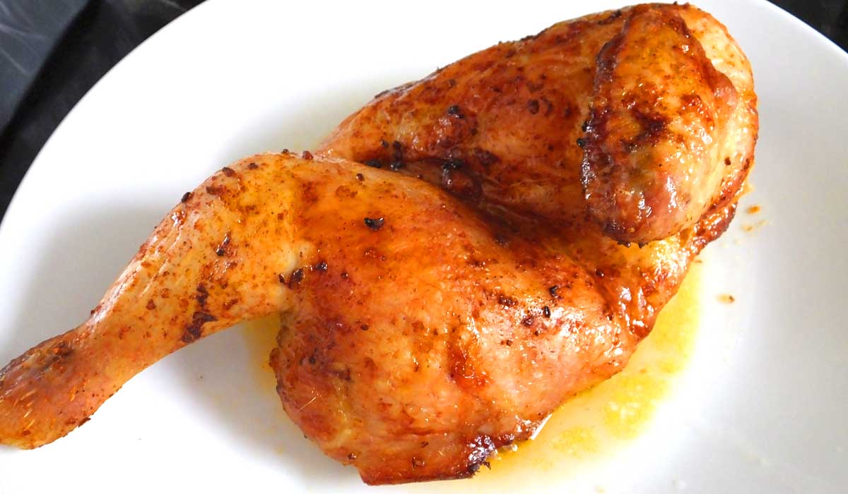 Half roast beer can chicken M&S - Pikalily Food Blog