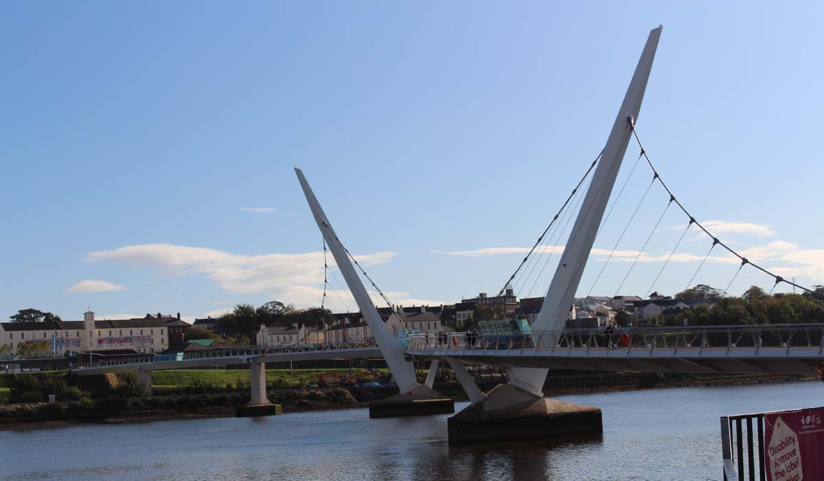 Peace Bridge Derry - Pikalily Travel Blog