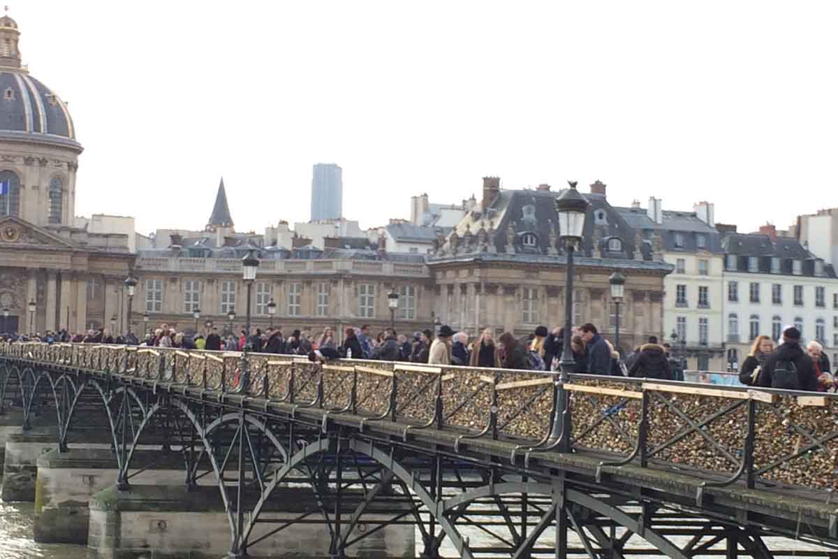 Paris Padlock Bridge - Pikalily Food Travel