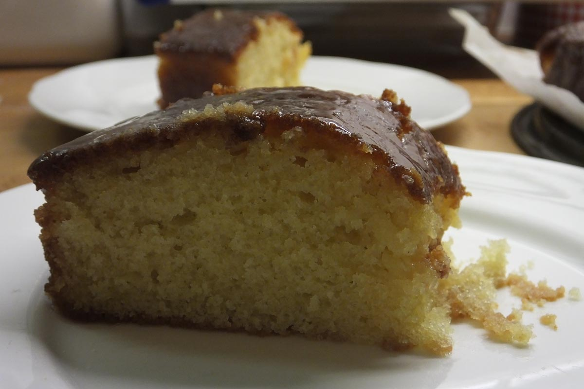 Slices lemon drizzle cake - Pikalily food blog