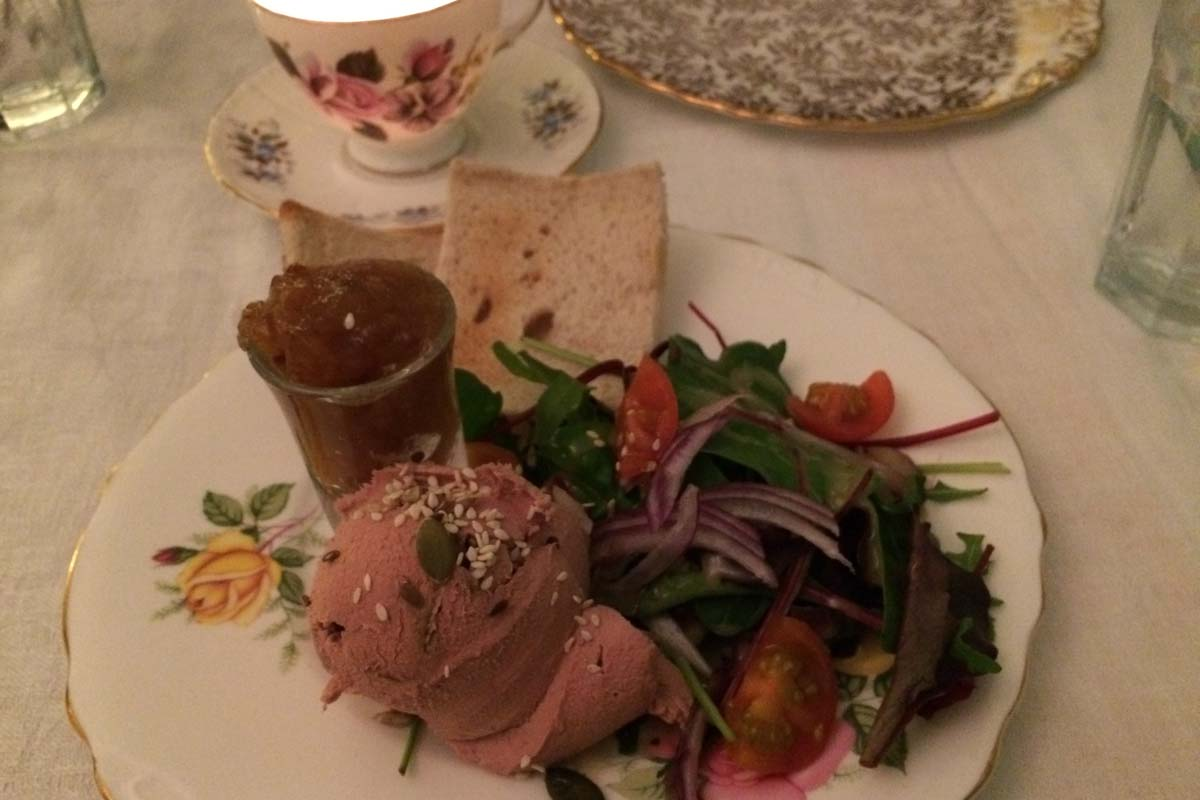 Olive bizarre - duck liver pate melba toast - pikalily food blog