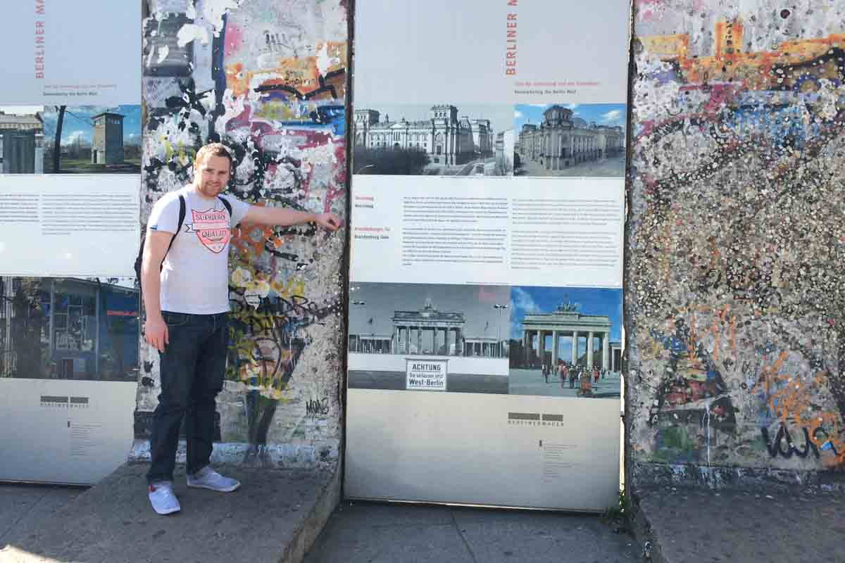 Nial Berlin Wall Potsdamer Platz - Pikalily Travel Blog