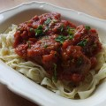 Homemade tagliatelle pasta and meatballs - Pikalily food blog