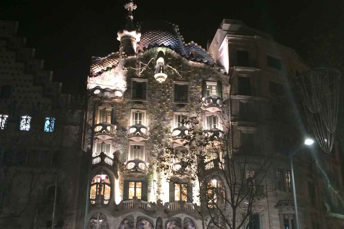 Casa Batllo Barcelona Night - Pikalily Travel Blog