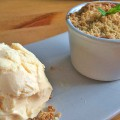 Peach and mint crumble - Pikalily Food Blog