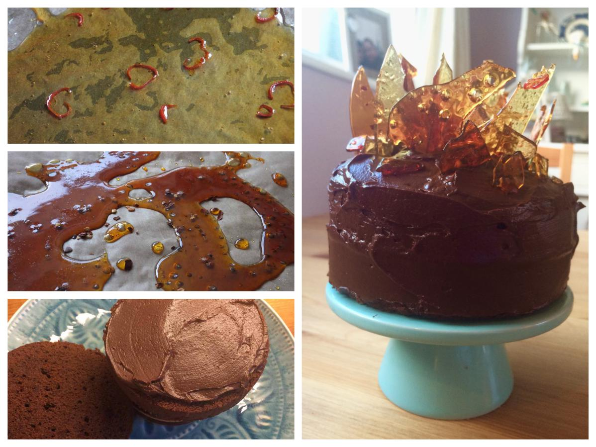 Caramel and chilli chocolate cake - Pikalily food blog