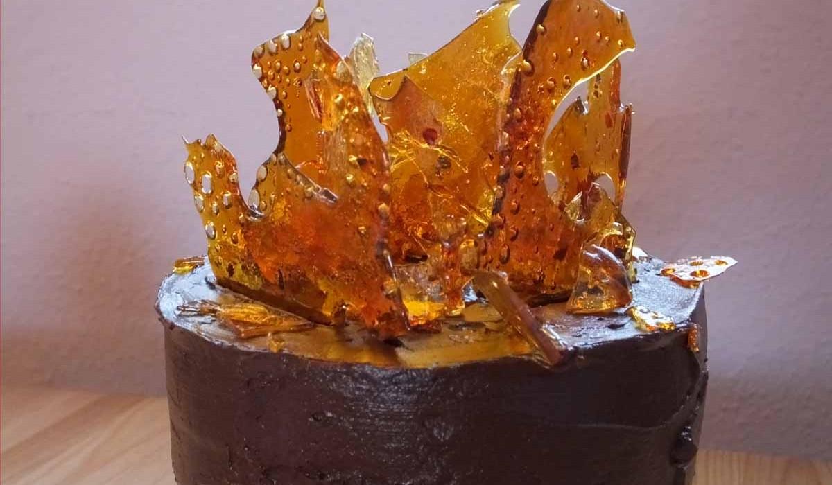 Helen's chocolate chilli bonfire cake