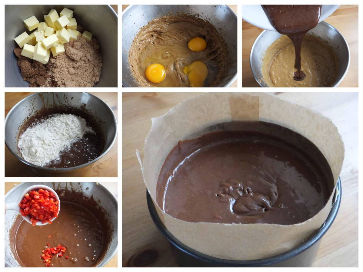 Baking chilli chocolate cake - Pikalily food blog