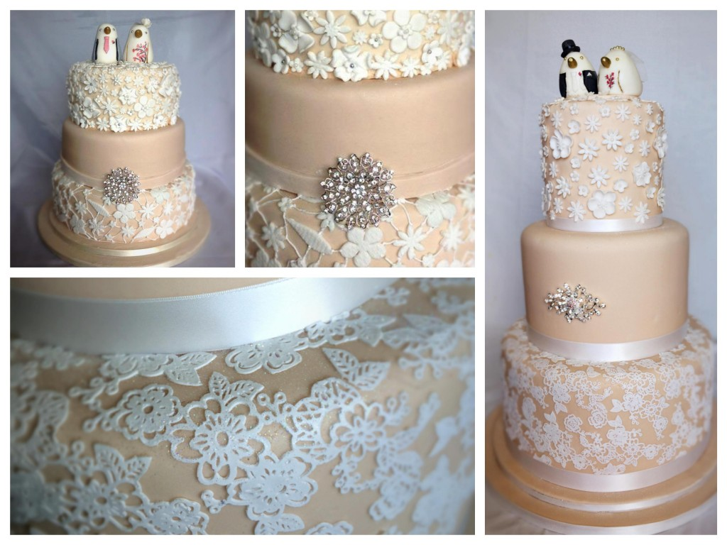 Lace wedding cake - Pikalily food blog