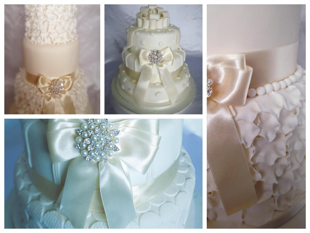 White ivory wedding cakes - Pikalily food blog