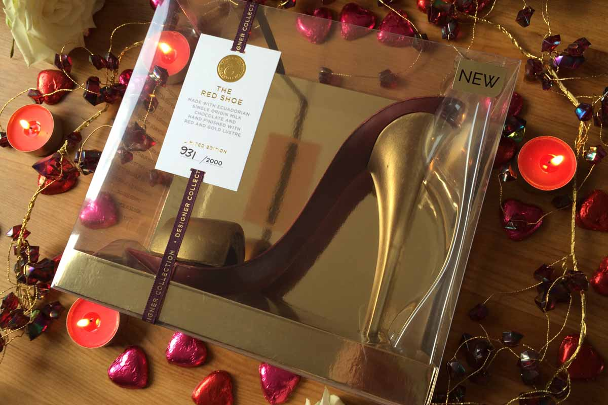 M&S Chocolate Red Shoe - Pikalily Food Blog
