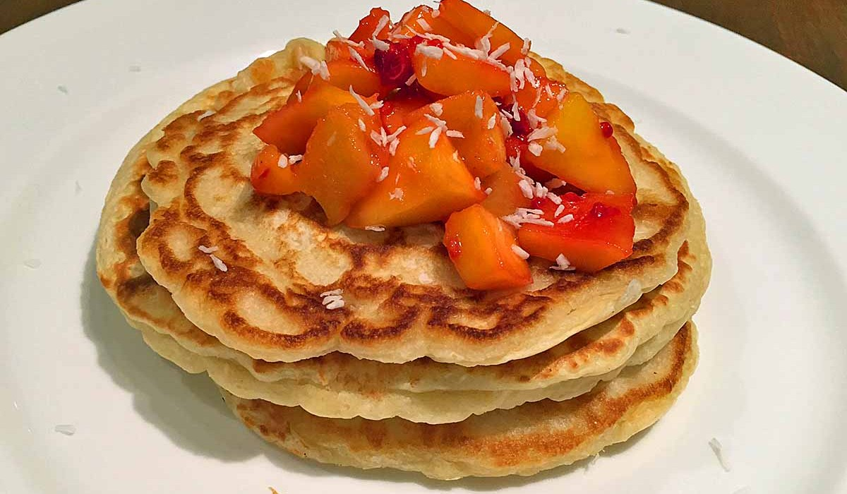 Coconut and Mango Pancake Recipe
