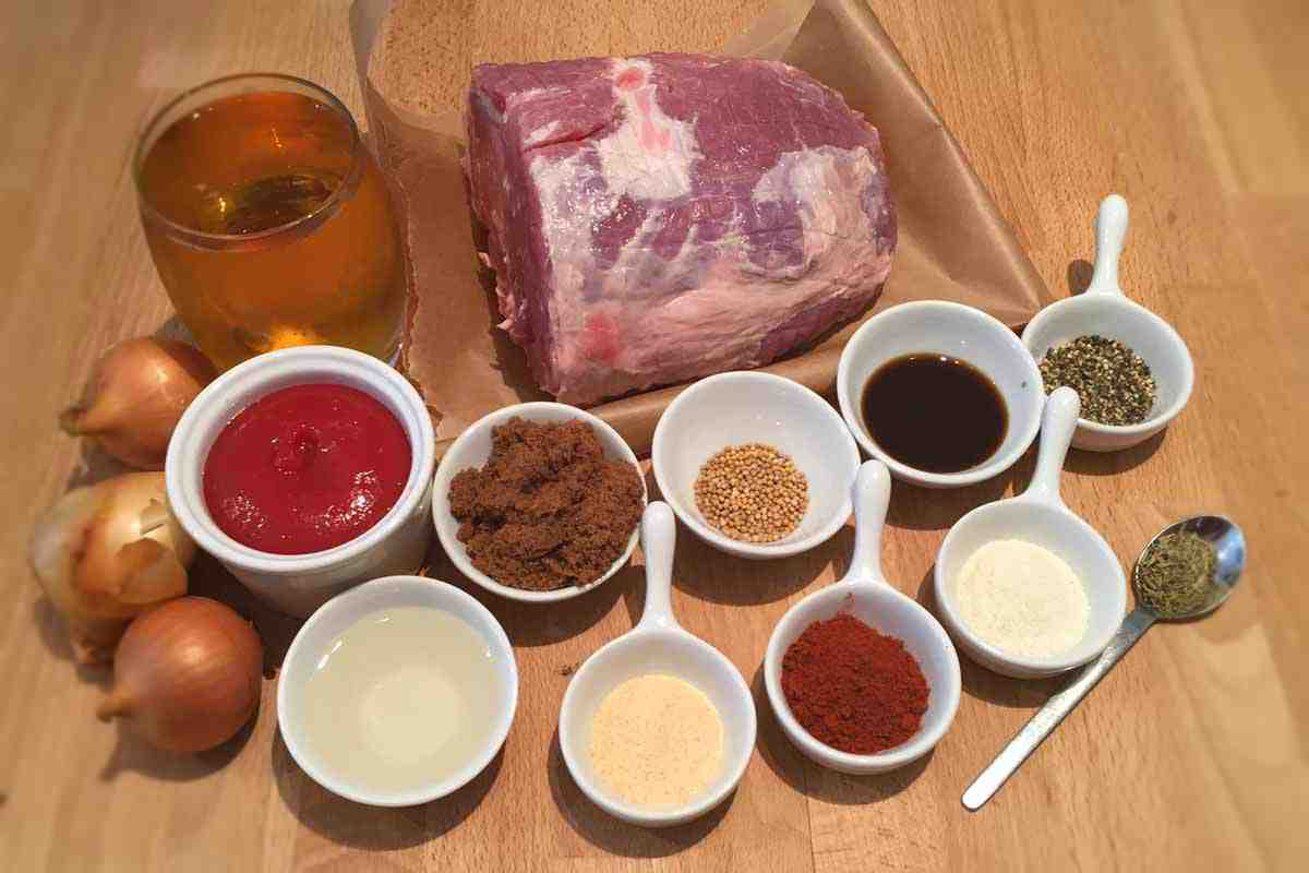 BBQ Pulled Pork Ingredients - Pikalily Food Blog