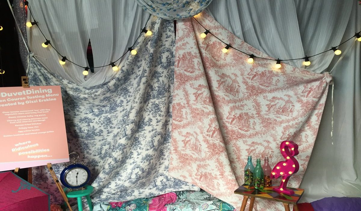 A magical evening of Duvet Dining with TK Maxx