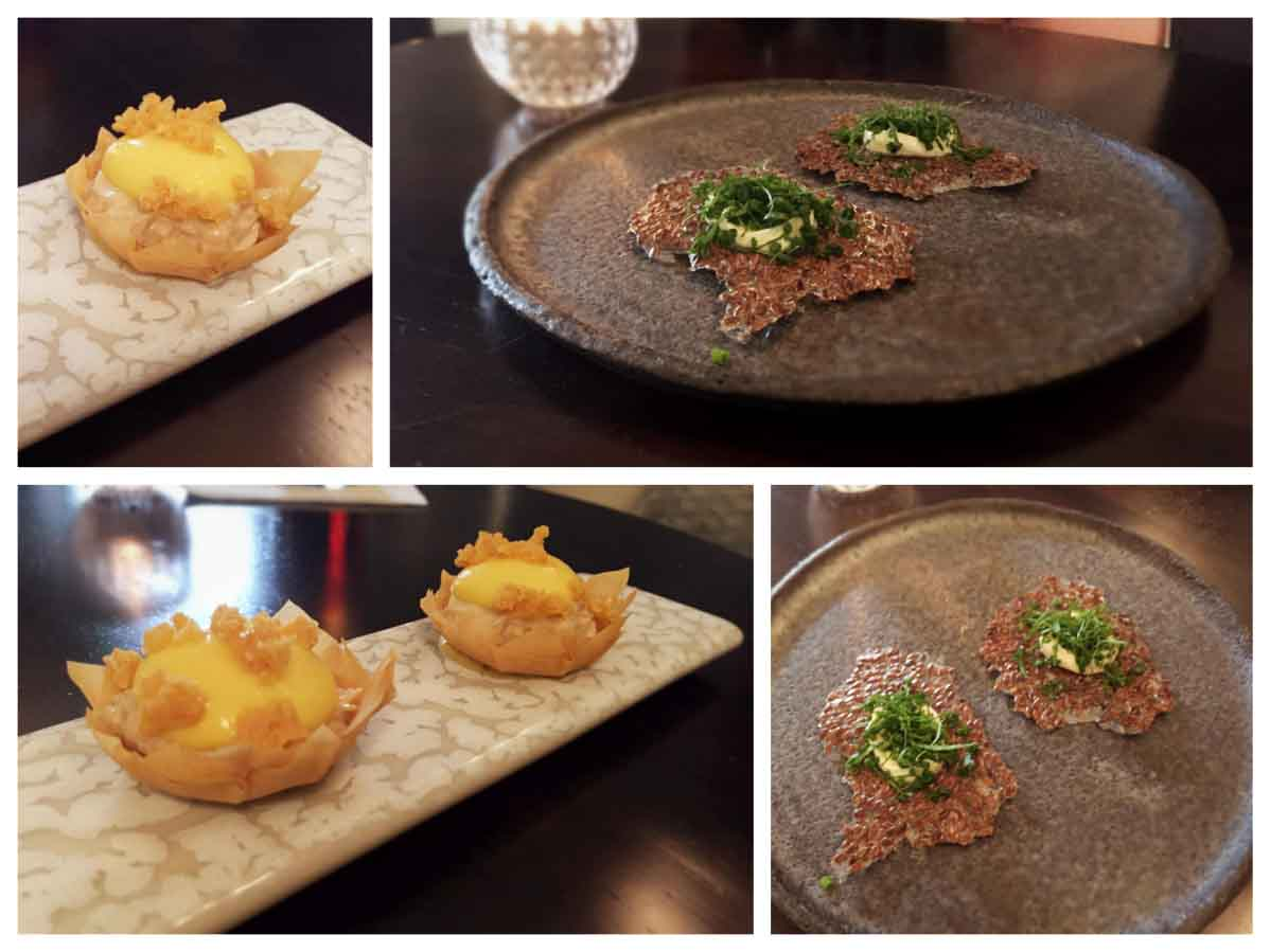 Linseed Crackers and Crab Filo - Deanes EIPIC - Pikalily Food Travel