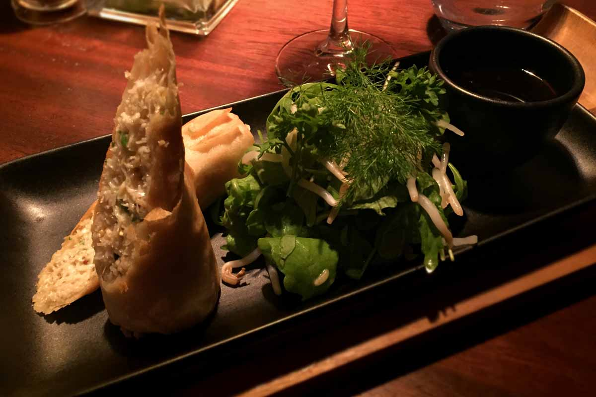 Crab Spring Roll - Coq Bull Brasserie - Pikalily Food Travel Blog