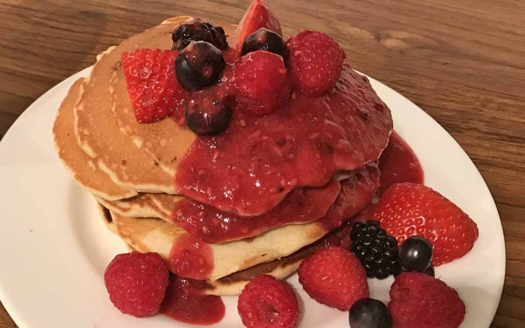 Blueberry Pancake Recipe with Berry Compote - Pikalily Food Blog