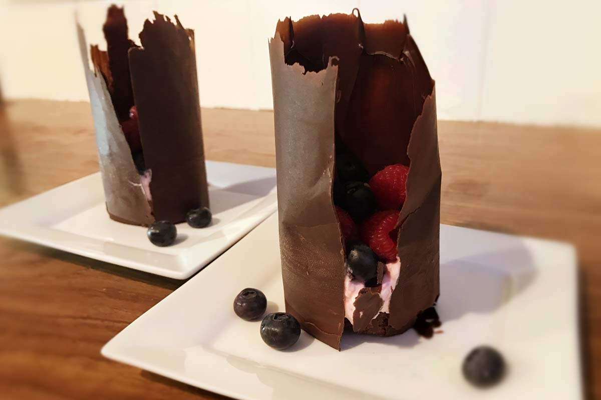 Chocolate and Raspberry Towers Dessert - Pikalily Food Blog