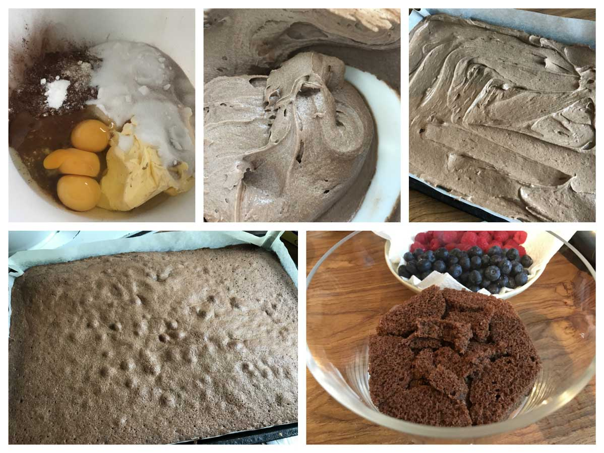 Making a chocolate sponge - Pikalily Food Blog