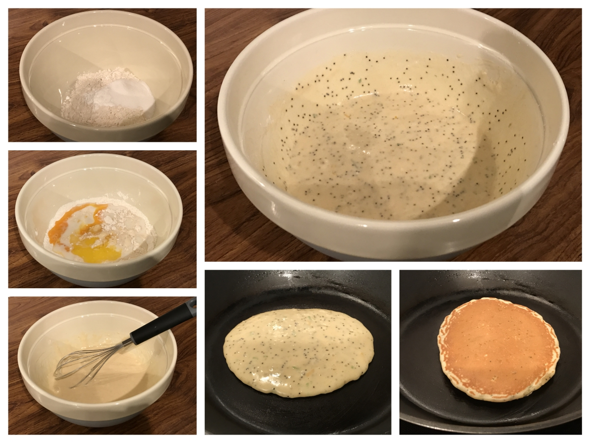 Lemon, lime and poppy seed pancake - Pikalily Food Blog