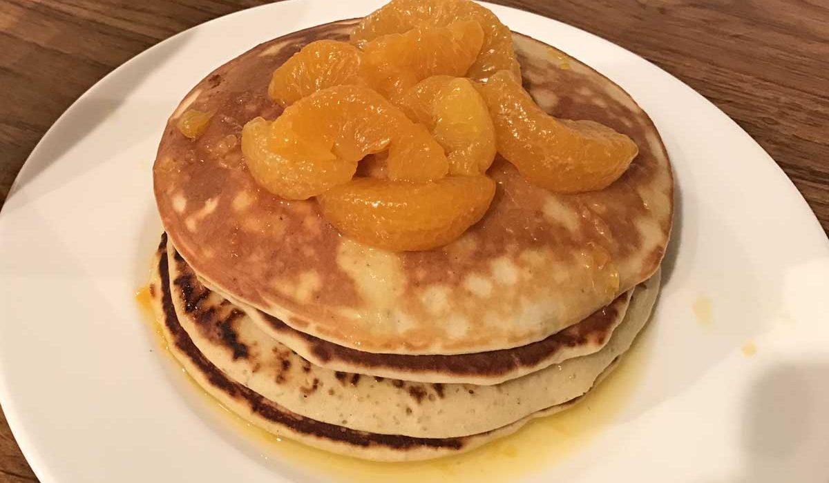 Orange and Cardamom Pancakes