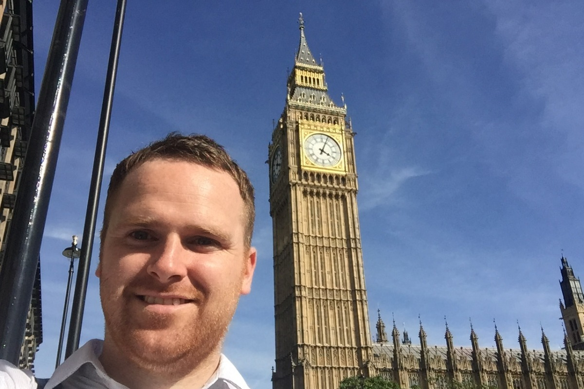 Nial at Big Ben - Pikalily Travel Blog