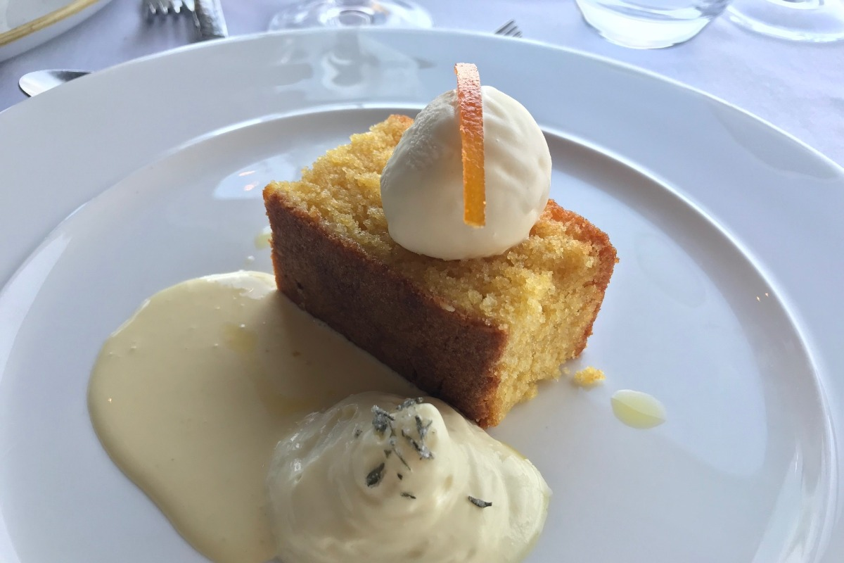 Polenta Cake Dessert - Edge Restaurant Review - Pikalily Blog