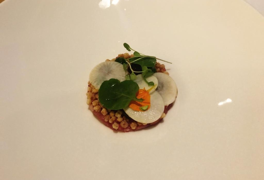 Gourmet Wine Night at Galgorm River Room - Smoked Veal Fregola - Pikalily Blog